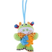 Baby Infant Soft Animal Appease Toy Music Plush Telescopic Pull Bell Doll